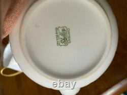 SHELLEY FINE BONE CHINA OLEANDER Antique Creamer Sugar Holder & Teapot Set