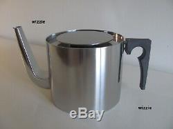 STELTON Cylinda Teapot with Rechaud / Arne Jacobsen
