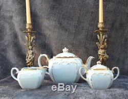 Sadler Blue Cube Teapot China Tea Set Full Sized James Sadler England