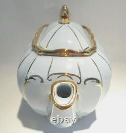 Sadler Cube Blue Teapot with Cream and Sugar Set Tea Set Full Size 1922