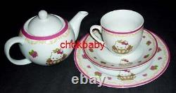 Sanrio Hello Kitty x Crabtree & Evelyn Rose Tea Set With Pot Cup Plate Limited