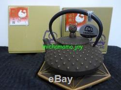 Sanrio Iwachu Nambu Iron x Hello Kitty Tea pot & Coaster set Dark Brown
