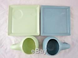 Sasha Studios Ceramic Dinosaur Gourd Cups Plates Teapot Set Fulper Pottery 1936
