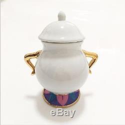 Set Teiera Mrs. Bric La Bella E La Bestia Teapot Sugar Bowl Cup Zuccheriera Pot