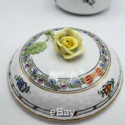 Set of 3 Herend Indian Basket Multicolor Tea Set Creamer, Sugar & Teapot