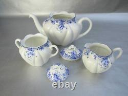 Shelley Dainty Blue Tea Set (Teapot, Creamer & Covered Sugar Bowl)