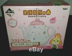 Shizue isabelle Animal Crossing ichiban kuji Mug Cup Tea Pot Plate SET
