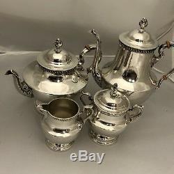 Sterling Silver By Poole 1027 Georgian Tea Pot Set Of 4