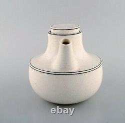 Stig Lindberg for Gustavsberg. Birka teapot with sugar / cream set, 1960s