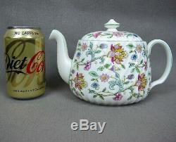 Superb vintage green edge Minton HADDON HALL Tea Set cups teapot plates etc