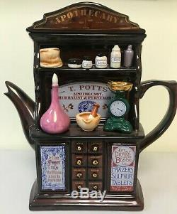 Swineside Teapottery Apothecary Teapot 10H x 9 1/2W x 3 1/2D