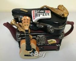 Swineside Teapottery Earl Grey & His Band Teapot 6 1/2 H x 10 W x 4 D