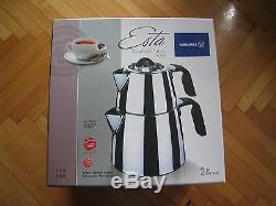 TURKISH TEA POT SET KORKMAZ A080 ESTA STAINLESS STEEL TEA POT 3.1 lt SAFE TEA