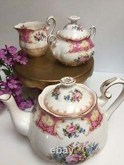 Tea/Coffee Set Teapot Royal Albert Lady Carlyle Excellent