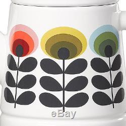 Tea Pot Orla Kiely Enamel Teapot Flower Design New Vintage Retro 70s Style Set