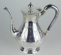 Tea Set Birks Regency Silverplate Teapot Coffee Pot Cream Sugar Bowl Queen Mary