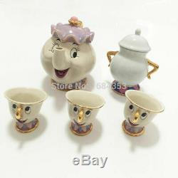 Tea Set Cartoon Beauty And The Beast Tea Set Mrs Potts Teapot Chip Cup Sugar