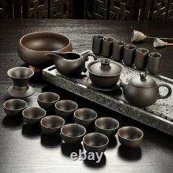 Tea Set Chinese Kung Fu Purple Sand Teapot Teacup Ceramic Set Handmade Drinkware