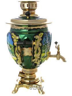 Tea Set Electric Tula Samovar Yasnaya Polyana Hand Painted + Teapot +Salver