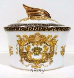 Tea cup set GOLD Designed by European Artrans Tray, saucer, tea pot, Versace style