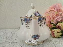 Tea pot Moonlight Rose Royal Albert Medium floral english set England porcelain