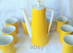 Teapot Set Yellow and White Marked OMC Japan Vintage / Retro