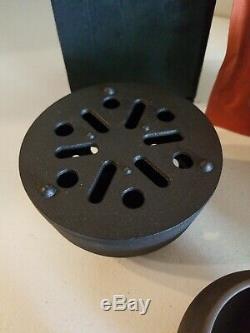 Teavana RARE Cast iron complete 7pc Tea pot cup warmer set withboxes