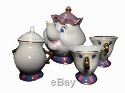 Tokyo Disney Limited Beauty and the Beast Mrs Potts pot Chip Tea cup set Japan