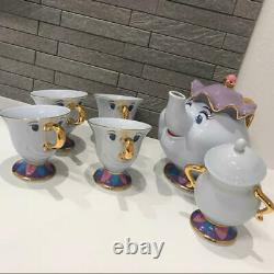 Tokyo Disney Resort Limited Beauty and The Beast Mrs. Potts Chip Teapot Cup set