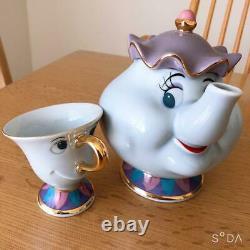 Tokyo Disneyland Mrs. Potts Teapot & Chip Tea Cup Set Disney Beauty Beast Mint