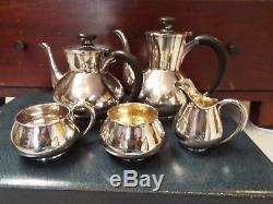 Toshikazu Miyata 950 Japanese Sterling Silver Teapot Tea Set 2185 Grams Nr