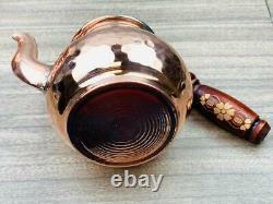 Turkish Copper Tea Pot Set Handmade Hammered kettle traditional Free Shipping