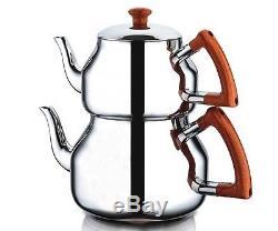 Turkish Teapot Set Stainless Steel (Family size) Özkent, Marmaris