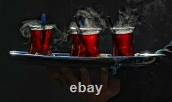 Turkish Traditional Steel Tea Pot 3.2 Lt Large Size Teapot Set Tea Maker Özlife
