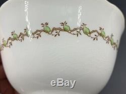 Tuscan British Columbia White Dogwood Teapot Creamer & Sugar Tea Set Bone China