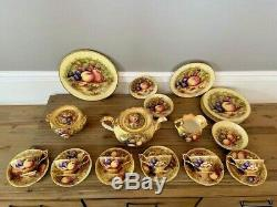 Ultra Rare and Incredible Aynsley Golden Orchard D1019 Teapot Set 26 Pieces