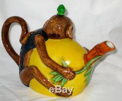 Unused Minton Archive Collection Monkey Teapot Ltd Ed Royal Doulton England Mint