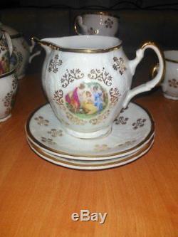 Unused original Tea set Bernadotte Czech Madonna for 6 persons of 1968 year