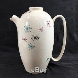 VTG WS George Celeste MCM Tea Set Teapot Cups Saucer Creamer Atomic Starburst