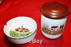 Villeroy & Boch Design Naif 11 Piece Service Set Coffee Pot, Teapot, Sugar