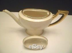 VintageLENOX/TIFFANY & CO Ivory/Gilded Coffee/Tea Pot Sugar & Creamer Set