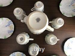 Vintage 1930 E. Hughes Fenton Paladin Bone China Tea Set Teapot England Art Deco