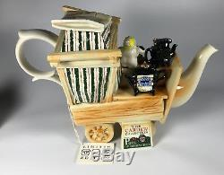 Vintage 1995 Paul Cardew Limited Edition Signed Large Teapot Market Stall Teapot