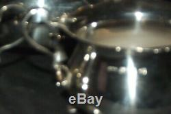 Vintage 3 Piece solid Silver Bachelor Tea Set Teapot, Sugar & Milk1898 & 97