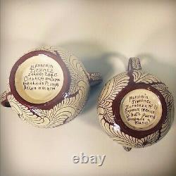 Vintage 40's 50's Casa Jimenez Pluma Teapot Creamer 13 Piece Set Oaxaca Mexico