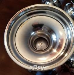 Vintage Alvin CHASED ROMANTIQUE Sterling Silver 7pc Coffee & Tea Pot Set 3174g