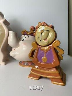 Vintage Beauty & The Beast 10th Anniversary Disney Teapot Tea Set