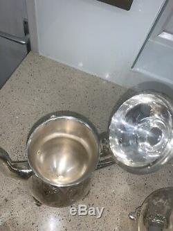 Vintage Epns Silver Teapot Set Of 4