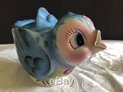 Vintage Geo Z Lefton Bluebird Teapot (#438), Creamer & Sugar Bowl Set (#290)