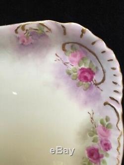 Vintage Haviland Limoges Hand Painted Tea Set -Teapot, Creamer, Sugar Bowl, Tray
